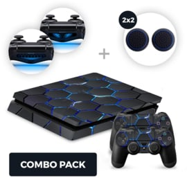 Hex Lightning Skins Bundel - PS4 Slim Combo Packs
