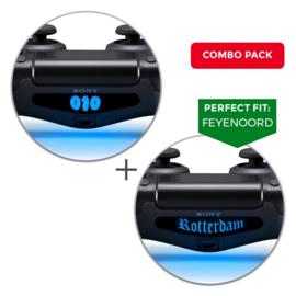 FEYENOORD Combo Pack / 010 & Rotterdam - PS4 Lightbar Skins