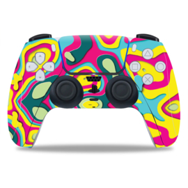 PS5 Controller Skins - Artboard Geel / Roze