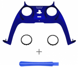 PS5 Controller Behuizing Shell - Blauw Chrome - Cover Shell