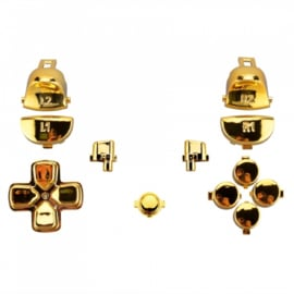 Gold Chrome (GEN 4, 5) - PS4 Controller Buttons