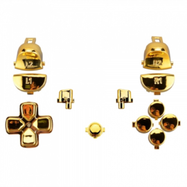 Goud Chrome (GEN 4, 5) - PS4 Controller Buttons