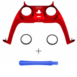 PS5 Controller Behuizing Shell - Rood Chrome - Cover Shell