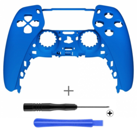 PS5 Controller Behuizing Shell - Blauw Soft Touch - Front Shell