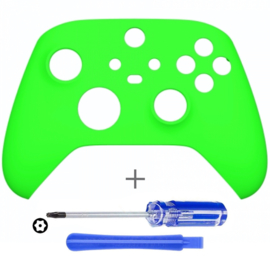 Soft Touch Neon Groen - Xbox Series Controller Behuizing Shell