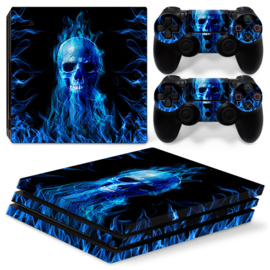 Fire Skull - PS4 Pro Console Skins