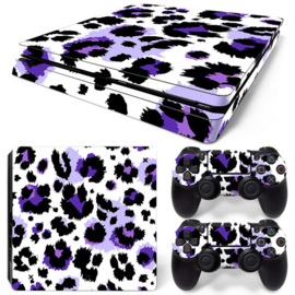 Leopard Print Purple - PS4 Slim Console Skins