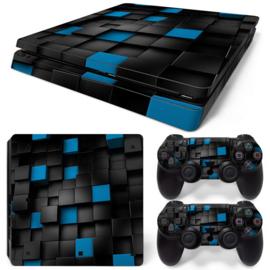 3D Cubes - PS4 Slim Console Skins