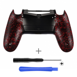 PS4 Controller Behuizing Shell - 3D Grip Rood (GEN 4, 5) - Back Shell