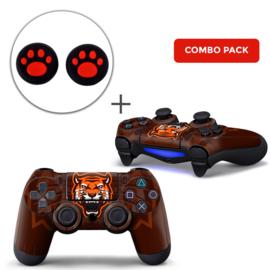 Gamer Tiger Skins Grips Bundle - PS4 Controller Combo Packs