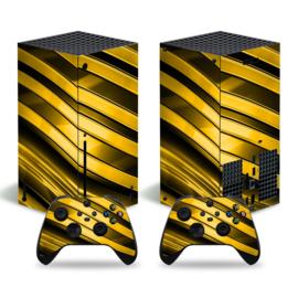 Metal Twirl Goud - Xbox Series X Console Skins