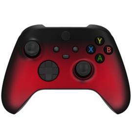 Xbox Series Draadloze Controller - Gradient Soft Touch Zwart / Rood Custom