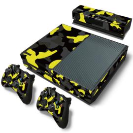 Army Camo Geel Zwart - Xbox One Console Skins