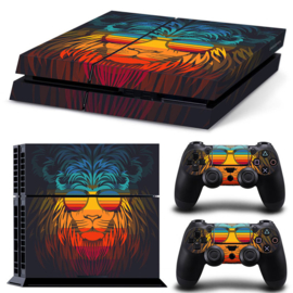 Retro Lion - PS4 Console Skins