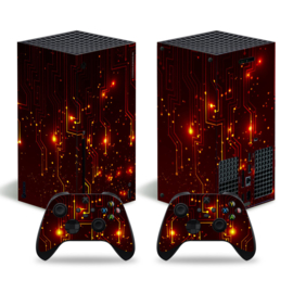 CPU Rood - Xbox Series X Console Skins