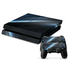 Black-Blue Design - PS4 Console Skins