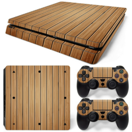 Wood Brown - PS4 Slim Console Skins