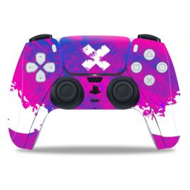 PS5 Controller Skins - Liquid Grunge Neon Paars