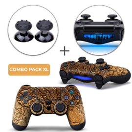 Golden Waves Skins Grips XL Bundel - PS4 Controller XL Combo Packs