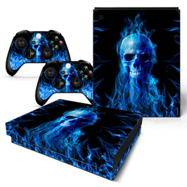 Fire Skull - Xbox One X Console Skins