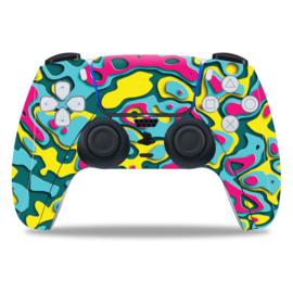 PS5 Controller Skins - Artboard Geel / Paars