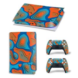PS5 Console Skins - Artboard Blauw / Oranje