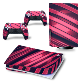 PS5 Console Skins - Metal Twirl Pink / Red