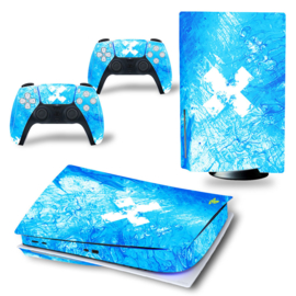 PS5 Console Skins - Liquid Grunge Blue
