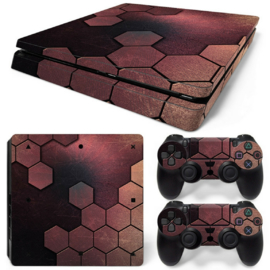 Steel Bronze - PS4 Slim Console Skins