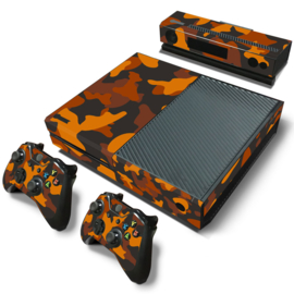 Army Camo Oranje Zwart - Xbox One Console Skins