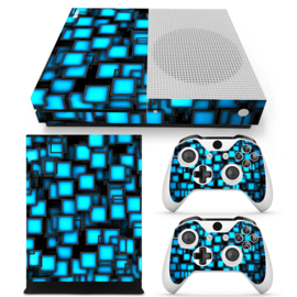Blue Boxes - Xbox One S Console Skins