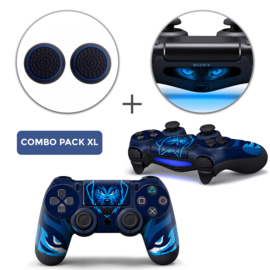 Gamer Wolf Skins Grips XL Bundel - PS4 Controller XL Combo Packs
