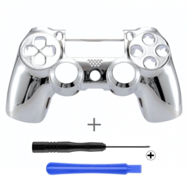 PS4 Controller Behuizing Shell - Chrome Zilver (GEN 4, 5) - Front Shell