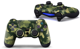 Army Camo Groen Zwart - PS4 Controller Skins