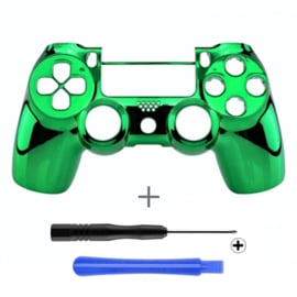 PS4 Controller Behuizing Shell - Groen Chrome (GEN 4, 5) - Front Shell