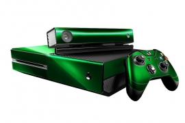 Green Chrome - Xbox One Console Skins