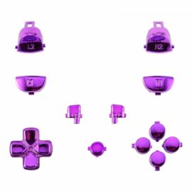Chrome Paars (GEN 4, 5) - PS4 Controller Buttons
