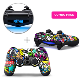 Stickerbomb Skins Bundel - PS4 Controller Combo Packs