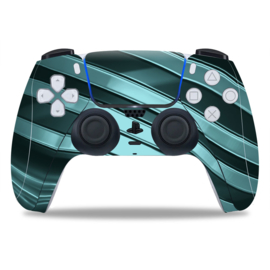 PS5 Controller Skins - Metal Twirl Grijs / Groen