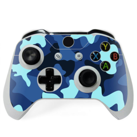 Army Camo Blue Black - Xbox One Controller Skins