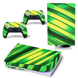 PS5 Console Skins - Metal Twirl Yellow / Green