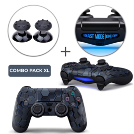 Hex 3D Skins Grips XL Bundel - PS4 Controller XL Combo Packs