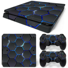 Hex Lightning - PS4 Slim Console Skins