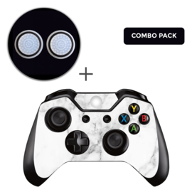 Marmer Wit Skins Grips Bundel - Xbox One Controller Combo Packs