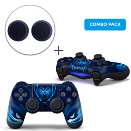 Gamer Wolf Skins Grips Bundle - PS4 Controller Combo Packs