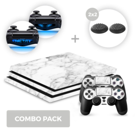 Marble White Skins Bundel - PS4 Pro Combo Packs