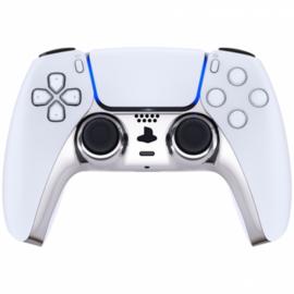 Sony PS5 DualSense Wireless Controller - Silver Chrome Cover Custom