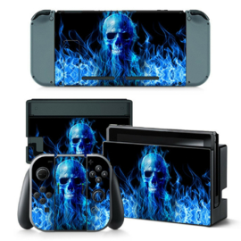 Blue Skull Premium - Nintendo Switch Skins