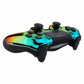 Chrome Green Gold Red (GEN 4, 5) - PS4 Controller Shells