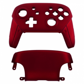 NS Behuizing Shell - Rood Soft Touch - Pro Controller Shells